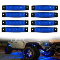 8 X Blue LED Rock Light For Jeep ATV Off Road Car Truck Underbody Lights