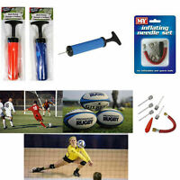 FAST INFLATING HAND PUMP Air WITH NEEDLE ADAPTER FOR All BALL FOOTBALL Sports