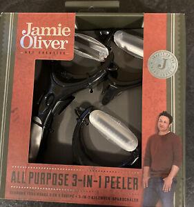 Jamie Oliver All Purpose 3-in-1 Peeler - Black Potato Fruit  Interchangeable