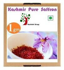 Kashmir Pure Saffron kesar 1 gm Zafran pure stigma kashmiri [ PREMIUM GRADE ]