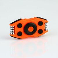 R188 Bearing Hand Spinner Relieve Stress Fidget DEC Toy w/ Button Number Orange