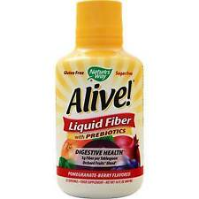 Nature's Way Alive! Liquid Fiber with Prebiotics Pomegranate-Berry 16 fl.oz