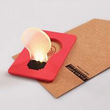 Lot 5Pcs Portable Wallet Purse Pocket Credit Card Size LED Bulb  Light Lamp
