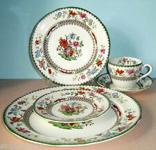 Spode CHINESE ROSE 5 Piece Place Setting Made in England New Condition
