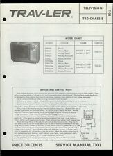 Rare Factory Admiral T9P800 Series Trav-Ler TV Television Service Manual