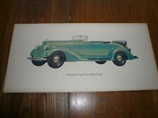 1934 Oldsmobile Showroom Picture Poster Qty 15 Complete Set? - Original F34 L34