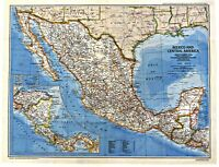 ⫸ 1980-12 Aztec World, Mexico Central America – National Geographic Map Guide