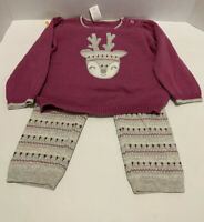 Gymboree Baby Girl 2 Piece Set - Reindeer - Sweater/Leggings  Size 12-18 Months