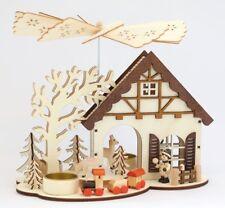 """Hauspyramide Für 3 Teelichte """"Rehe"""" 27,5×16,5×23cm Teelicht Weihnachtspyramide"""