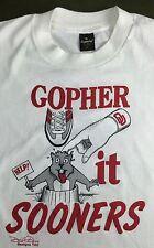 True Vintage 1986 University Oklahoma OU Sooners Football Graphic T-Shirt M