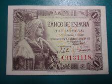 BILLETE DE 1 PESETA DE 1945  SERIE A