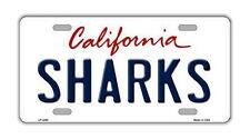 "Metal Vanity License Plate Tag Cover - San Jose Sharks - Hockey Team - 12"" x 6"""