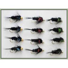 Green Montana Trote Mosche Esca 3 Pack Stonefly NINFA Pesca a Mosca Taglia 10,12