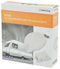 Mercury Outdoor Amplified Camping Caravan Camper Motorhome Boat TV Signal Aerial