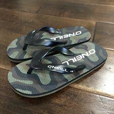 O'Neill Boys Flip Flops sandals sz 8 Kids Green And Black