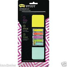 POST-IT Refillable Kit for Notebook or Textbook w/50 Adhesive Notes + 100 Flags