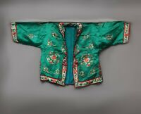 Antique Chinese Qing Dynasty Silk Embroidered textile Jacket Robe |Chinese Style