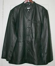 NEW Men's Genuine Leather Jacket Coat Size 2XL Black