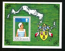 TURKS & CAICOS ISLANDS 1977 Silver Jubilee. SG MS 475. Maps. MNH. $5