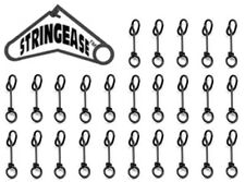 25 Pack Stringease Fastach Clips Fast Snaps Quick Snap #0 15lb Ice Fishing Clips