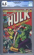 Incredible Hulk #181 Vol 1 CGC 6.5 1st App of Wolverine Complete w/ Marvel Stamp