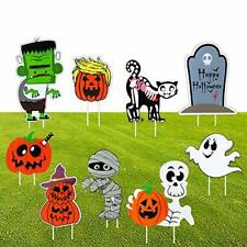 ThinkMax 9 Pcs Halloween Yard Signs with Stake for Outdoor Lawn.