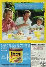 Publicité advertising 1997 Petit Dejeuner Ricoré Chicorée Café Solubles