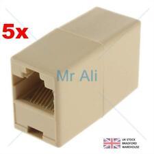5x rj45 cat5e cat6 DRITTO CAVO di RETE Ethernet LAN Accoppiatore Joiner connettore