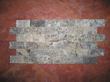 Naturstein Travertin Mosaik Fliesen Wandverblender Argento Persia 10x5xca.1,8cm