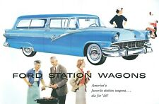 1956  FORD V-8/SIX  STATION WAGON SALES BROCHURE