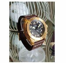 Fossil Modern Machine Brown Leather Men's Watch- FS5065