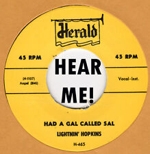 R&B REPRO: LIGHTNIN HOPKINS - Had A Gal Called Sal/Movin' Out Boogie HERALD