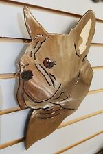 French Bulldog Face Steel Wall Art