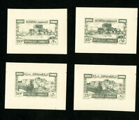 Lebanon Stamps XF OG NH Trial Color Set of 4x
