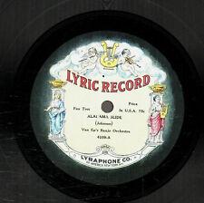 112g6.  Van Ep's Banjo Orch. - Alabama Slide & Ossman's Jazz Band - Lyric 4109