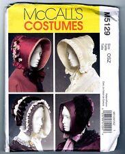 McCalls M5129 Victorian Civil War Bonnet Ladies Hat Pattern Uncut / Vintage 2006