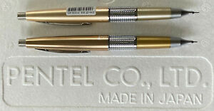2 Pentel Kerry Mechanical Pencil s Bronze Gold & 40th Anniversary Champagne Gold