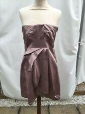 Karen Millen blush sateen strapeless dress size 10