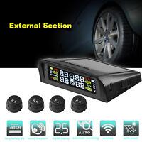 Auto Reifendruck-Kontrollsystem Solar LCD TPMS Drahtlos mit 4 External Sensoren