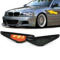 LCI LED E46 SMOKED Side Repeaters dark Indicators turn signals blinker markers