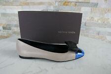 BOTTEGA VENETA Ballerines Taille 38,5 Chaussures Basses Pantoufles beige bleu