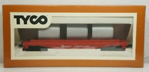NEW Vintage Tyco HO Scale Great Northern Flatbed W/Culvert Pipe Load 342D NIB