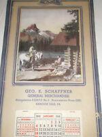 Vintage Advertising Calendar 1948 George Schaffner Merchandise Complete