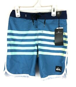Quiksilver, Youth Boy's Size 10, Blue Yellow Boardshorts Swimwear