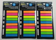 3x Colored Sticky Notes Post It Tabs Assorted Colors Binder Holes 10x20 Each