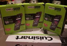 "3 NEW Simple Mobile ZTE Majesty Pro 4.5"" 4G LTE Prepaid Smartphone. Free Ship"