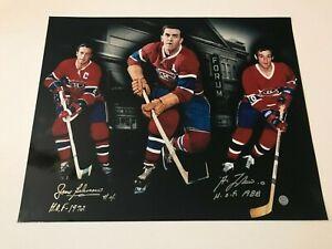 Jean Beliveau & Guy Lafleur autographed 16 x 20  photo with Coa