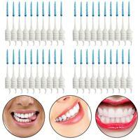 40pcs Teeth Toothpicks Dental Floss Picks Interdental Brush Stick Tooth Clean VQ