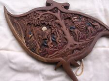SOUTH AMERICAN Carved wood WALL ART