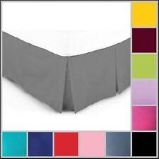 LUXURY Plain BASE VALANCE SHEET Platform Box Pleated Poly Cotton - All Sizes